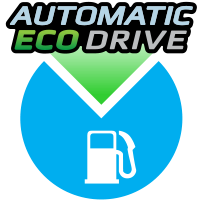 Automatic Eco Drive fuel save symbol