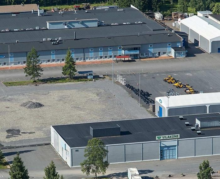 Vilakone Oy Loimaa Factory pictured from the air