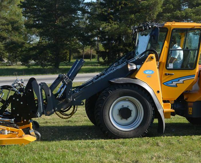Wille 665 with a lawn mower work attachment
