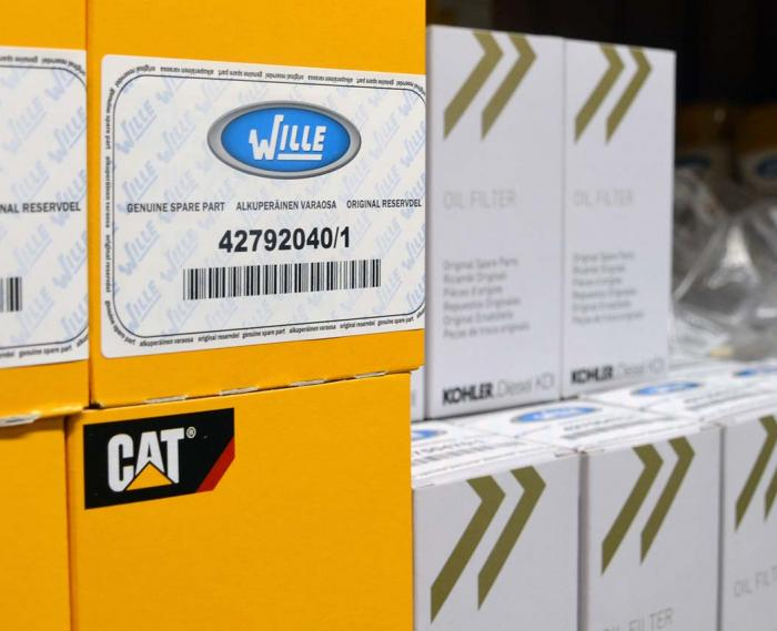 Wille service & support has a vast inventory of spare parts for quick delivery to minimize the downtime of the machines