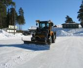 Wille Optim Ice Plow in action
