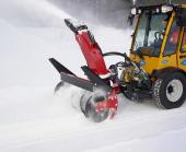 Wille 265 with a snow blower