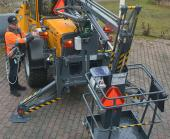 Wille 9 Access Platform being prepared for use by the operator