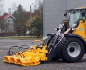 Wille 855c with a Plate Compactor