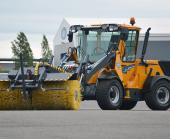 Wille Optim Rotary Brush 200 with Wille 465 on factory yard